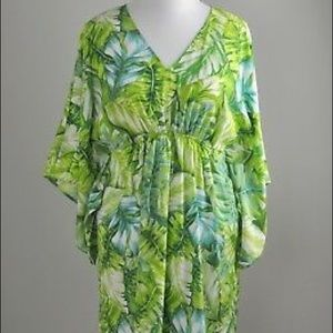 Natori | tropical sanctuary kimono cover all dress
